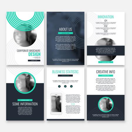 Abstract flyer design background. Brochure template. Banco de Imagens - 116734348