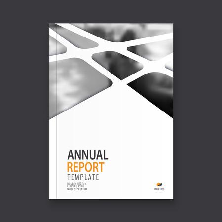 Abstract flyer design background. Brochure template. Ilustração