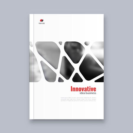 Abstract flyer design background. Brochure template. Banco de Imagens - 117033192