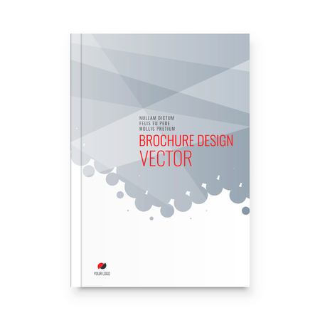 Abstract flyer design background. Brochure template. Banco de Imagens - 122306193