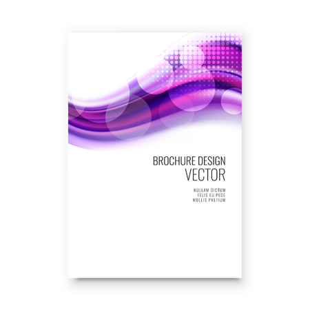 Abstract flyer design background. Brochure template. Can be used for magazine cover, business mockup, education, presentation, report. a4 size with editable elements Banco de Imagens - 123083412