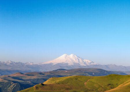 dormant: Mount Elbrus - Is a dormant volcano located in the western Caucasus mountain range, Russia.