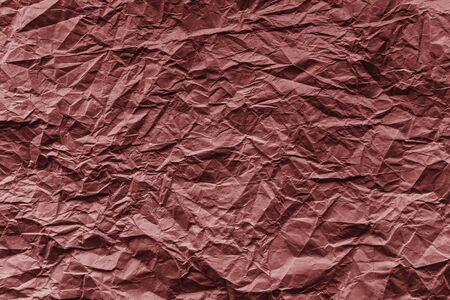 crumpled paper texture: Red crumpled paper , texture