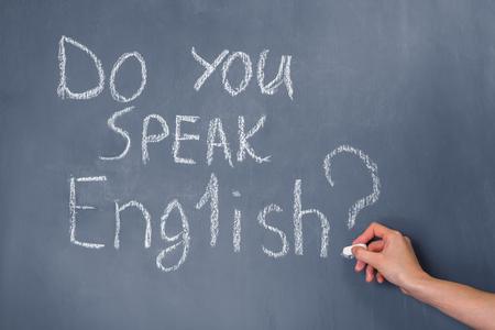 oracion: Frase escrita en la pizarra: �Hablas Ingl�s?