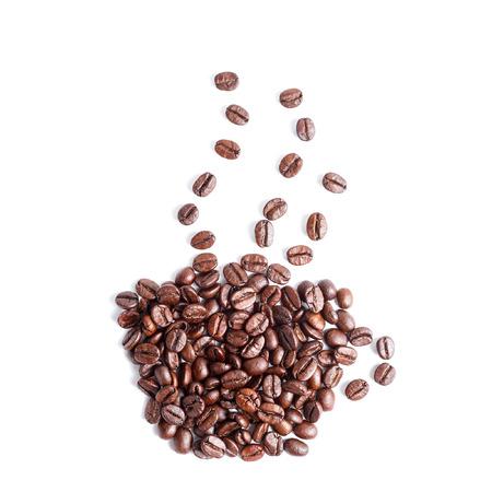 semilla de cafe: Taza forma de granos de café
