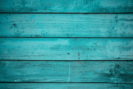Wooden striped surface of blue color, texture or background Banco de Imagens