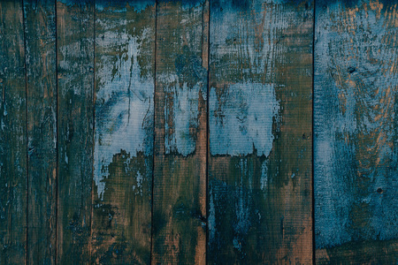 wooden color: Wooden vertical striped surface of blue color, texture or background