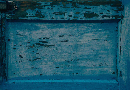 wooden color: Old wooden plank of blue color, texture or background. Space for text