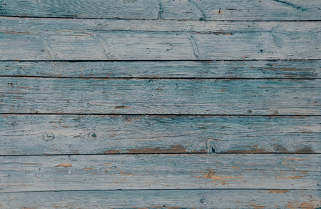 wooden color: Wooden horizontal striped surface of blue color, texture or background