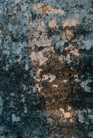 Surface of stone with ancient moss, natural texture or background. Banco de Imagens