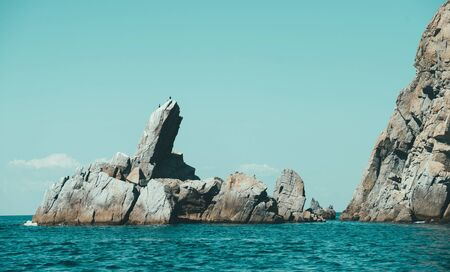 Beautiful seascape, rocks in the sea