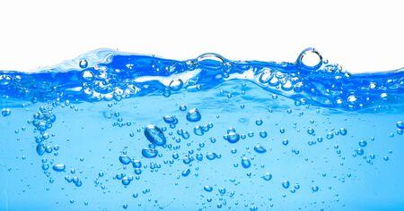 Many bubbles in clear blue water Banco de Imagens - 128637398