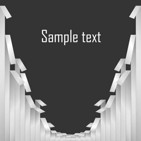 Grey driven paper tapes and  text on dark grey background