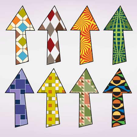 Colorful retro pattern hand drawn arrows Stock Vector - 15979895