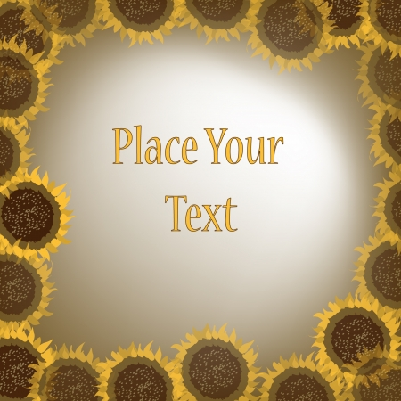 Circle of sunflowers with message Stock Vector - 15979961