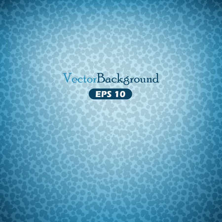 Blue abstract vector background with blobs