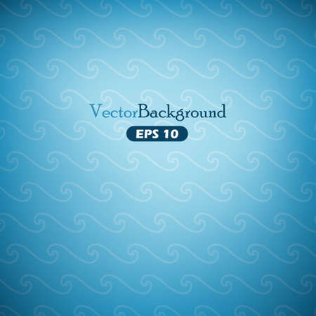 water effect: Blue abstract vector background with waves