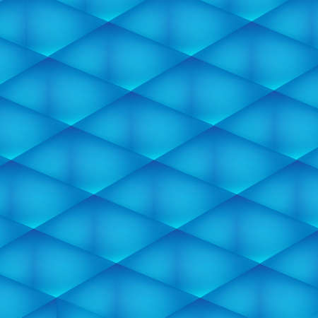 Blue transparent cubes abstract background Vector