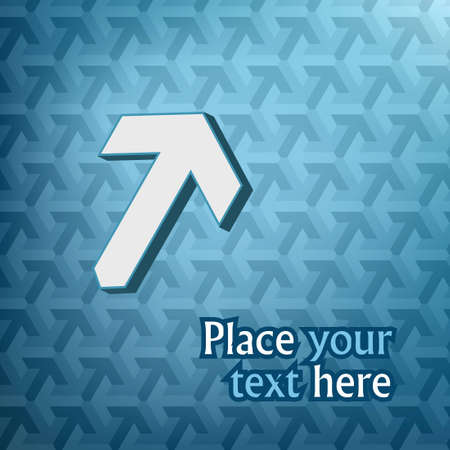 Big white 3D arrow on blue arrow pattern with text Stock Vector - 15980052
