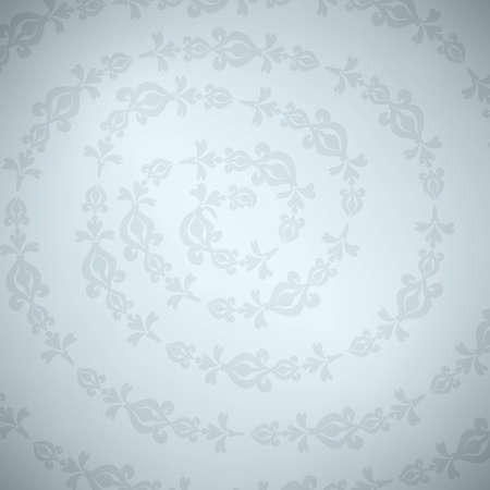 Gray ornament on spiral, with light on the middle Vector