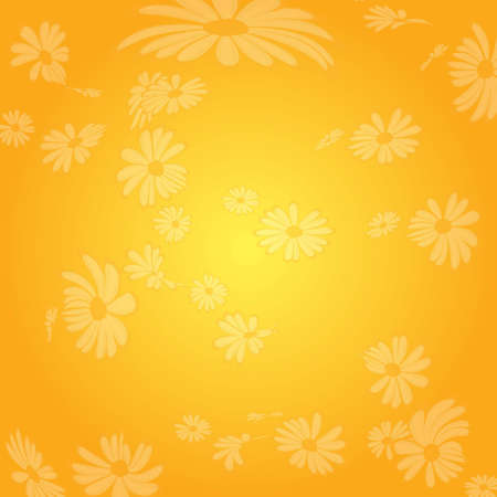 Yellow  flowers pattern  Illustration