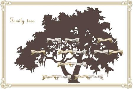 arbol geneal�gico: Familia plantilla �rbol
