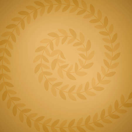Golden brown ornament on spiral with light on the middle