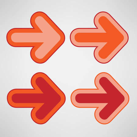 Orange right arrows on gray background Illustration