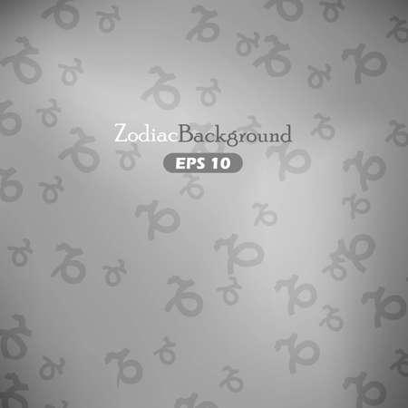 capricornus: Capricornus zodiac symbols on gray background