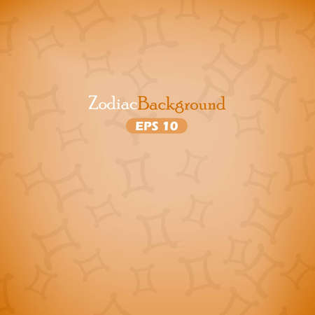 Gemini zodiac symbols on orange background Vector