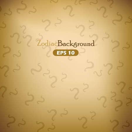 Leo zodiac symbols on golden brown background