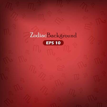 Scorpius zodiac symbols on red background Vector