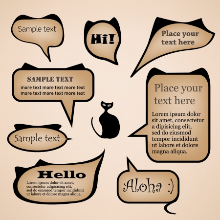 Cat text bubbles Vector