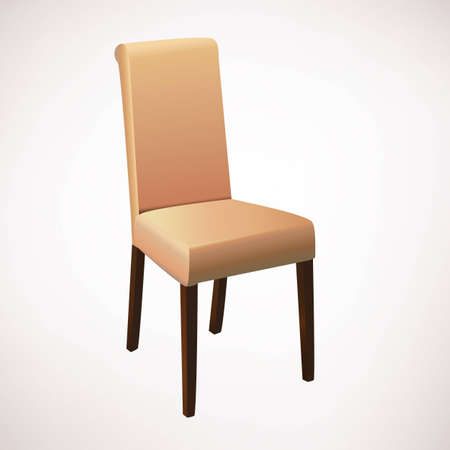chair wooden: Light brown dining chair