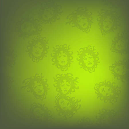 Green Medusa pattern Stock Vector - 16228590