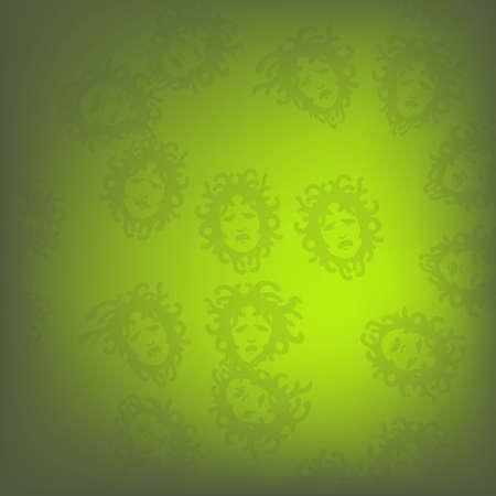 headliner: Green Medusa pattern