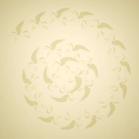 Golden Pegasus background  Vector