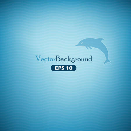 Blue abstract  background with dolphin