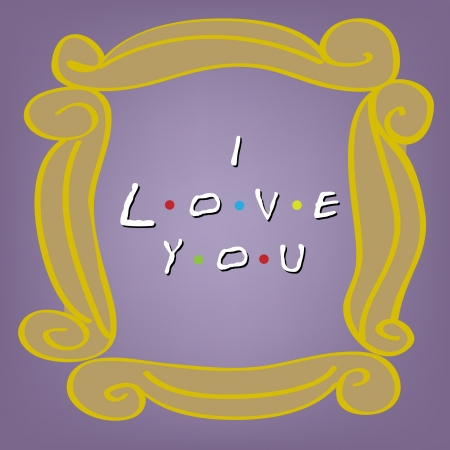captivated: I love you card on violet Illustration