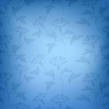 Blue floral pattern Stock Vector - 16228646