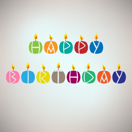 happy feast: Happy birthday card with candles