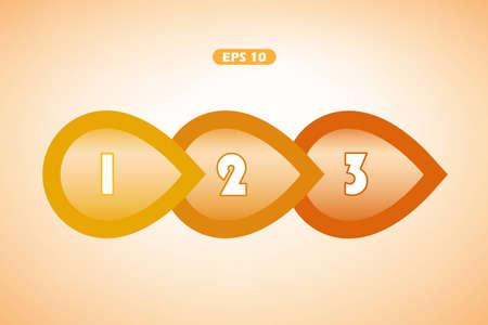 Orange next step arrow shapes