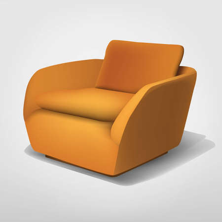 Orange armchair Stock Vector - 16334890