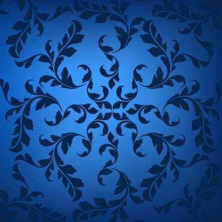 wallpaper: Blue ornament Illustration
