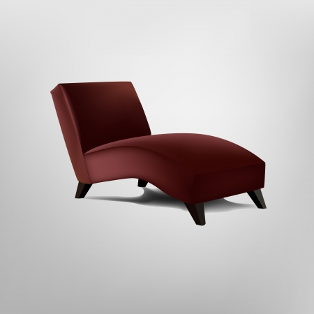 comfy: Red armchair