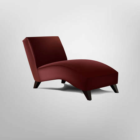 leather chair: Red poltrona