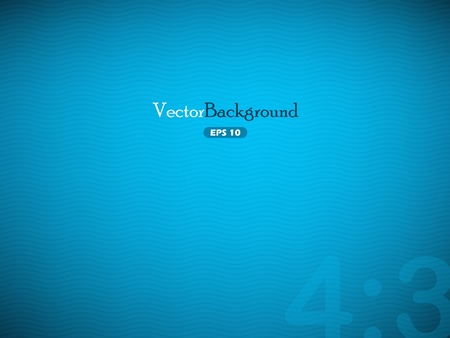 Blue vector background with waves Vector