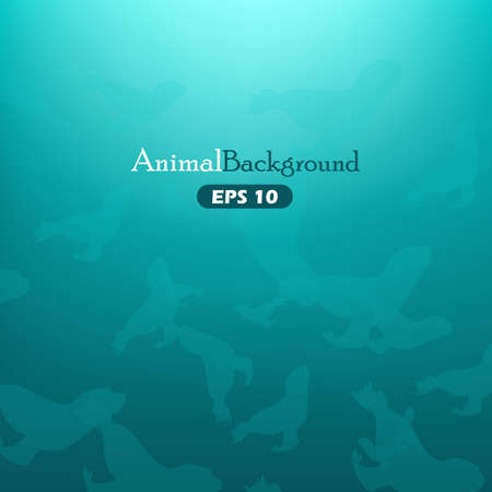 Animal background with seals