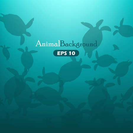Animal background with turtles Illustration