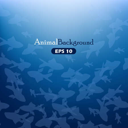 Animal background with fishes
